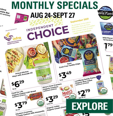 Monthly Specials Aug 2021